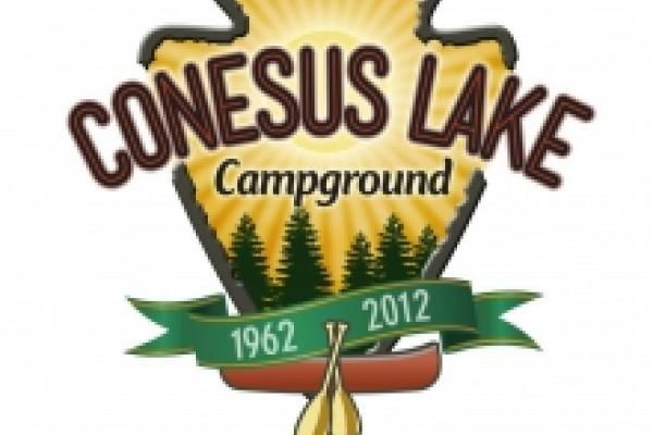 logo for conesus lake campground