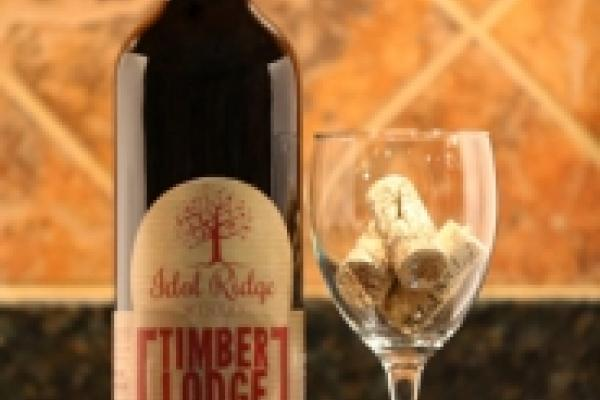 red wine bottle corks and glass