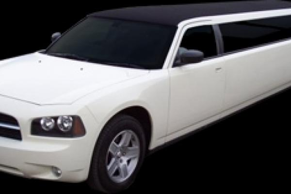 stretch white limo
