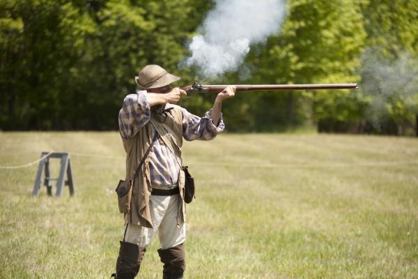war of 1812 gun demo