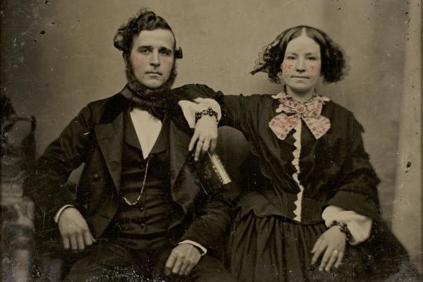 Daguerreotype of a couple