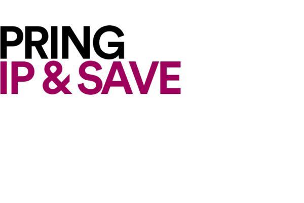 Spring Sip & Save