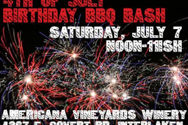 Americana's 4th of July Birthday BBQ Bash, July 7, 12-11p