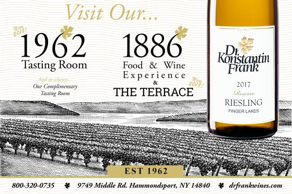 white background with 1962 tasting room and 1886 experience black text