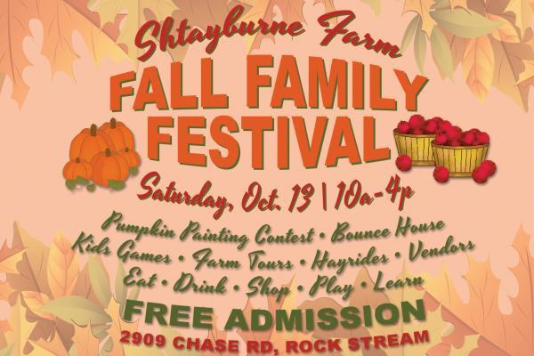 Fall Family Festival at Shtayburne Farm | Saturday, October 13