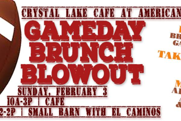 Gameday Brunch Blowout at the Crystal Lake Café | 2.3, 10a-3p