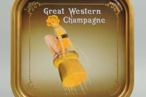 Great Western Champagne vintage tray