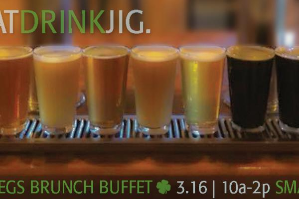 Eggs N Kegs Irish Brunch Buffet is Saturday, March 16 from 10-2!