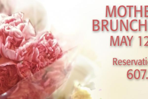 Mother's Day Brunch Buffet is May 12, from 10a-3p