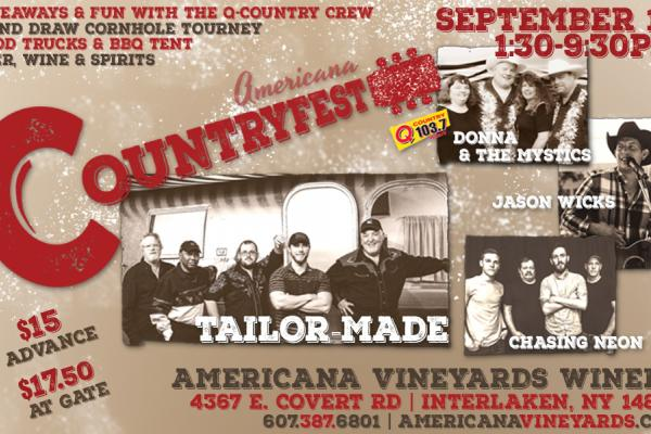 Join us for our first ever country music festival presented in part by Q-Country 103.4