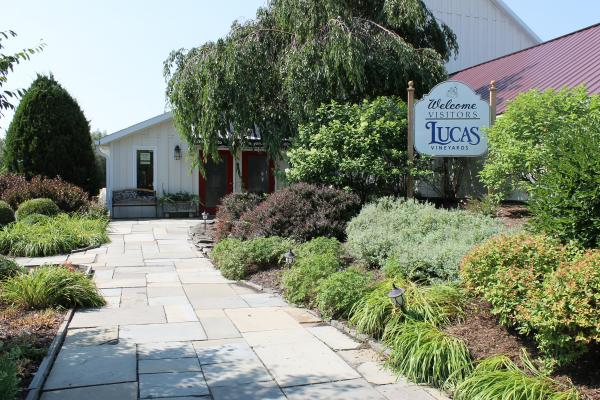 Entrance to Lucas Vineyards