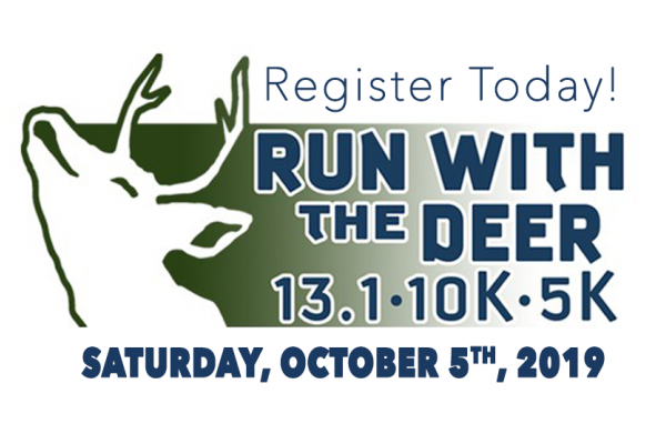 Run With The Deer- 13.1, 10K, & 5K at Seneca White Deer Logo