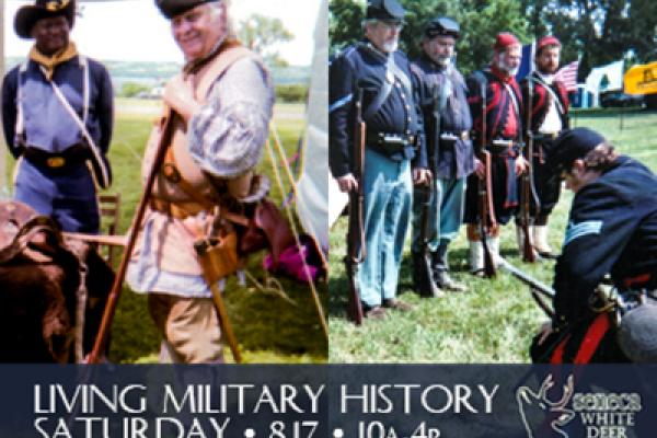 Join us at the historic Seneca Army Depot for a re-enactment of US military history from the American Revolution through WWII