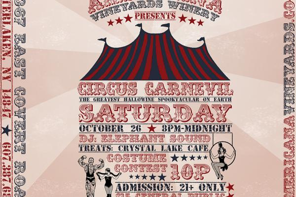 Hallowine Spooktacular: Circus Carn-Evil | October 26, 8p-midnight