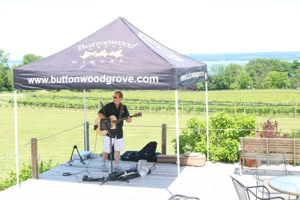 Phil Dumond performs at buttonwood grove winery