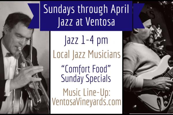 jazz musician with info text