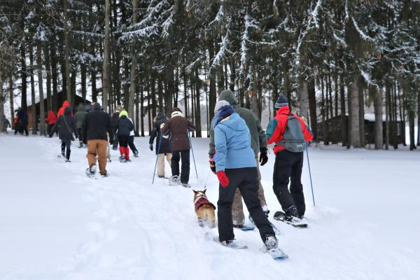 snowshoeing at Buttonwood Grove Winery