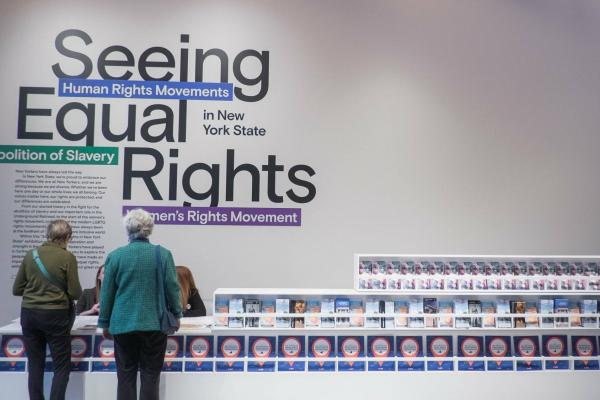 Orientation wall inside Equal Rights Heritage Center
