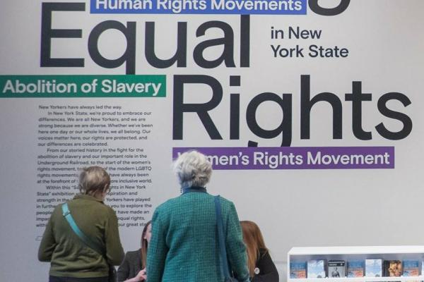 Seeing Equal Rights in foyer