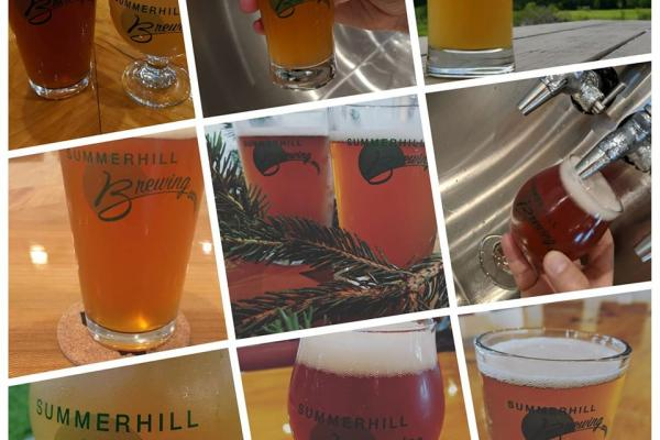 Collage of Summerhill Brewery beers