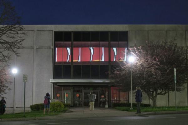 Schweinfurth Art Center with art installation on building