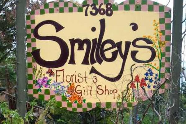 Smiley's Town and Country store sign