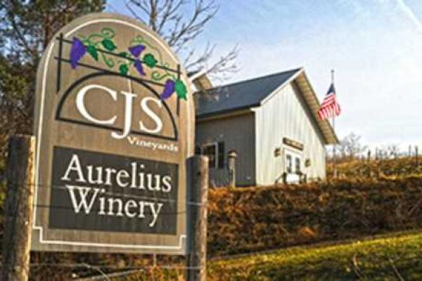 CJS Vineyards sign and building