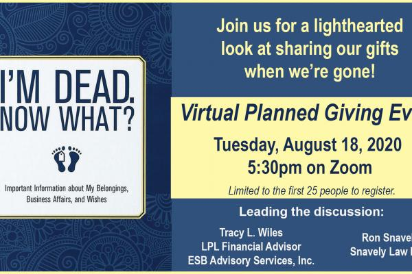 Virtual Planned Giving Event image