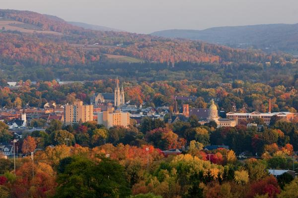 City of Cortland in the fall