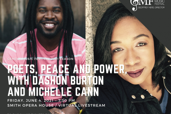 POETS, PEACE AND POWER, WITH DASHON BURTON AND MICHELLE CANN