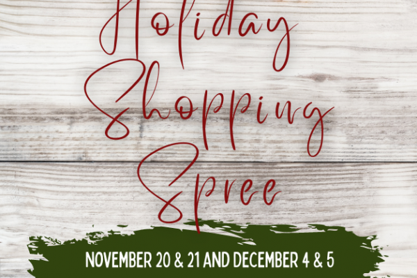 event logo for holiday shopping spree
