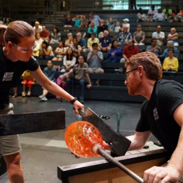Hot Glass Demonstrations in the Amphitheater