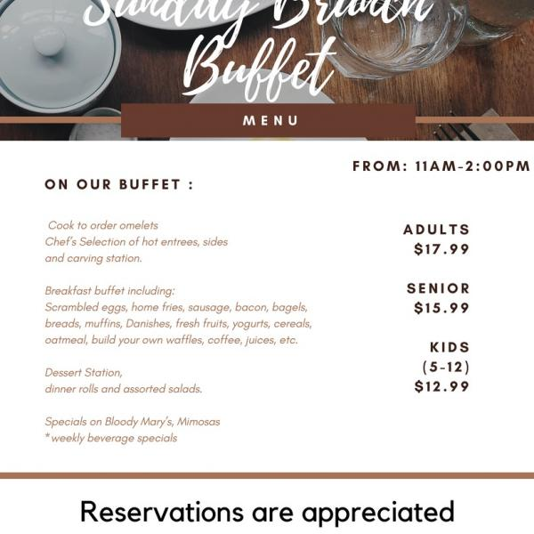 flyer for brunch