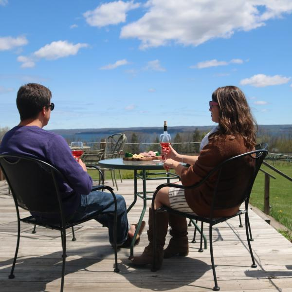 Tastings on the Buttonwood Grove deck