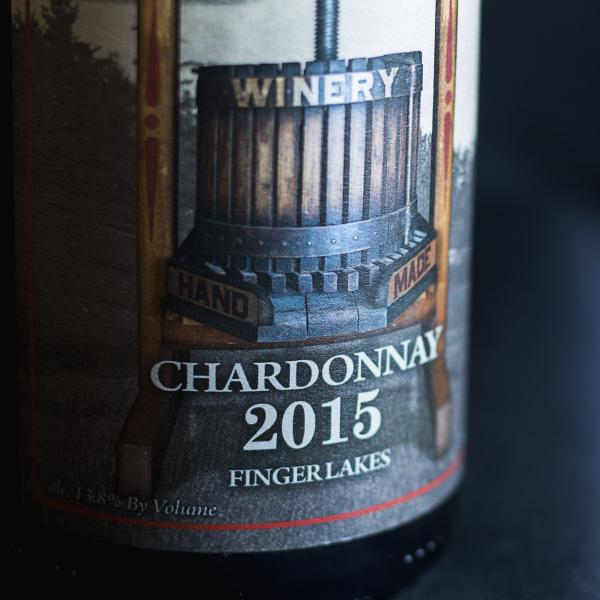 beauty shot of a bottle of Deer Run Winery Chardonnay