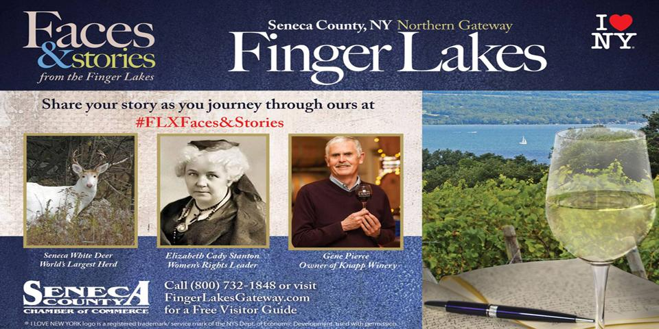 Seneca County presents the Finger lakes with lakes and history